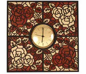 ROSE CLOCK INTARSIA PATTERN