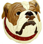 ENGLISH BULLDOG INTARSIA PATTERN