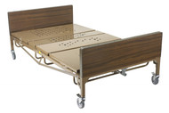 Full Electric Bariatric Hospital Bed with T Rails and Mattress - 15302bv-pkg