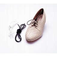 Black Elastic Shoe and Sneaker Laces - rtl2050