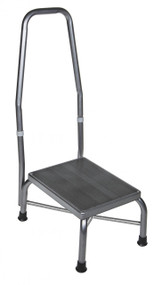 Footstool with Non Skid Rubber Platform and Handrail - 13031-1sv