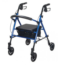 "Adjustable Height Blue Rollator with 6"" Wheels - rtl10261bl"