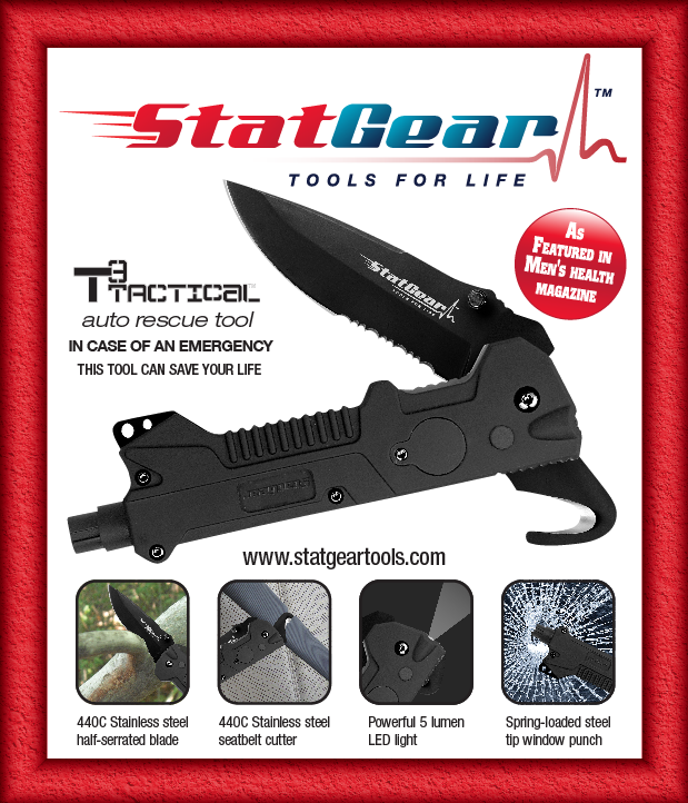 Survival Knife - T3 Tactical Auto Rescue Tool