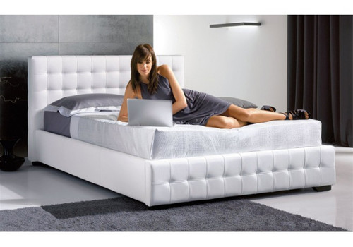 arrowsoft pu leather double queen king storage bed high sun mattress company
