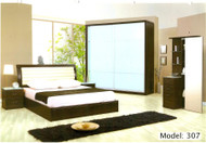 Eric PU leather bed with storage units