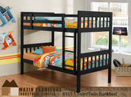 B51 solid wood bunk bed (twin / twin)