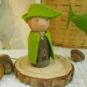 Woodsman Peg Doll