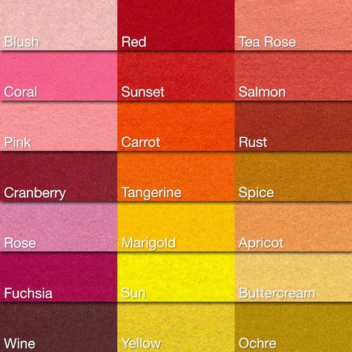 Warm Color Chart