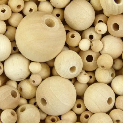 Unvarnished Wood Beads