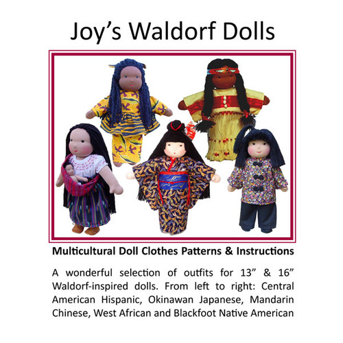 "Multicultural Doll Clothes Patterns for 13"" & 16"" Dolls"