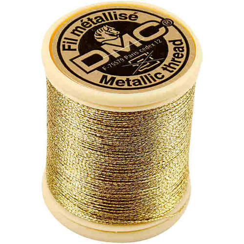 DMC Metallic Embroidery Thread - Light Gold