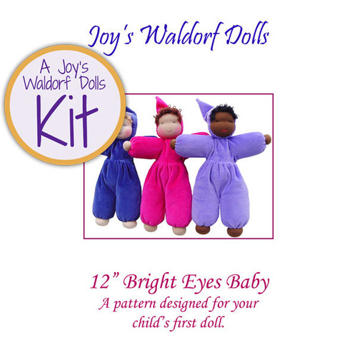 """12"""" Bright Eyes Waldorf Doll Making Kit"""