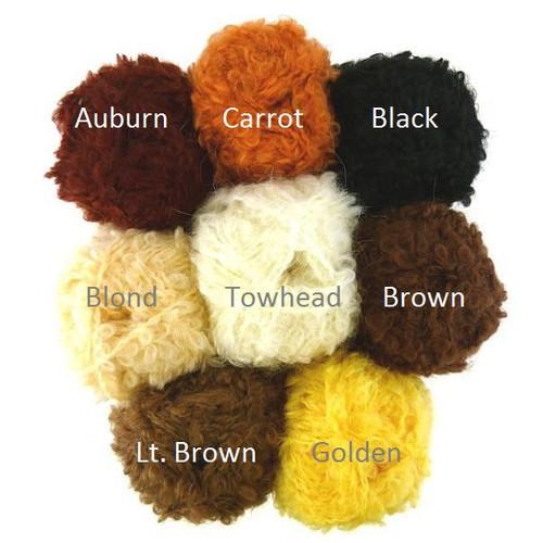 De Witte Engel Mohair Boucle Doll Hair Yarn