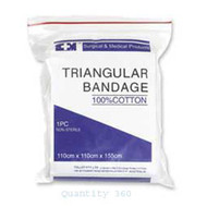 S+M Triangular Bandage Cotton Std - Carton (360)