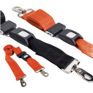 150cm Backboard Strap with Swivel Clips & Auto Buckles, Colour Black