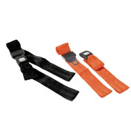 150cm Backboard Strap with Loop Ends, Auto Buckle,  Colour Black