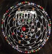 Multi-Color Red Center Bead #24