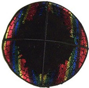 Rainbow Foil Border of Jerusalem Pin 9