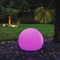 Astera LED PE Spheres 4 sizes available 25cm, 40cm, 50cm and 60cm with closure to hold Mini Lightdrop™ or Lightdrop™; semi-gloss finishing; unbreakable;  white PE material can be hung from attached hanger or floated in fountains or pools.