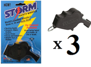 Storm Black Loudest Whistle in the World 3 pack