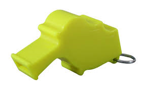 Yellow Storm with Breakaway lanyard Loudest Whistle in the World 12 pack