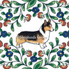 Black headed tricolor Pembroke Welsh Corgi dipping bowl from shepherds-grove.com.