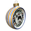 Side view of Boston Terrier Ornament - handmade by shepherds-grove.com
