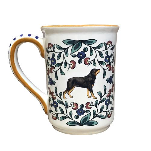 Handmade Rottweiler mug from shepherds-grove.com