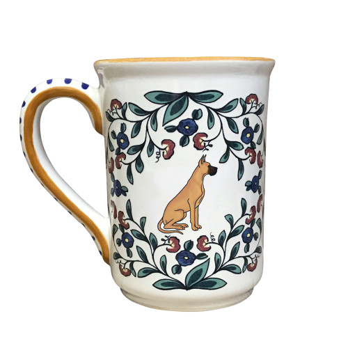 Handmade fawn Great Dane mug from shepherds-grove.com