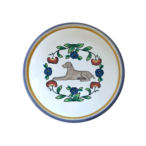 Grey Weimaraner ring dish (dipping bowl) from shepherds-grove.com
