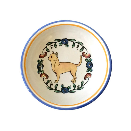 Fawn Chihuahua ring dish / dipping bowl.