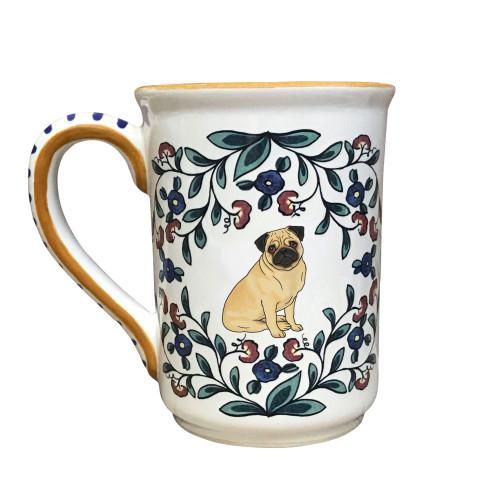 Fawn Pug mug - handmade by shepherds-grove.com