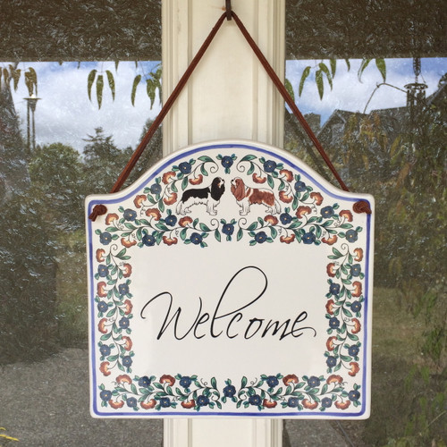 Cavalier King Charles Spaniel welcome sign from shepherds-grove.com