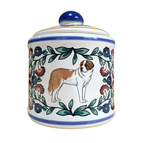Saint Bernard Dog Sugar Bowl