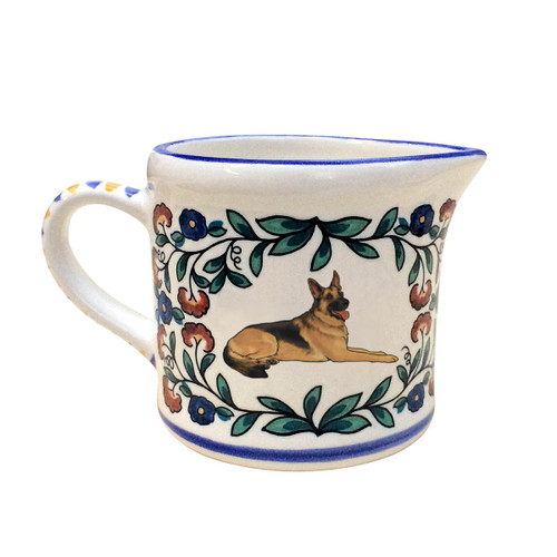 Black and Tan German Shepherd Creamer - handmade by shepherds-grove.com