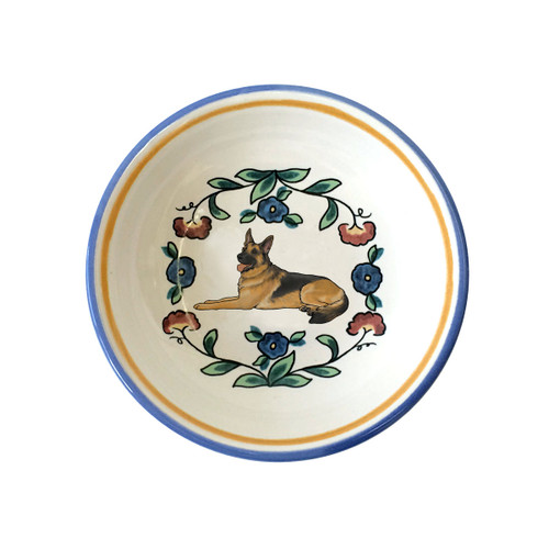 Black and Tan German Shepherd dipping bowl by shepherds-grove.com