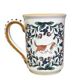 Red and White Basset Hound Stein Mug from shepherds-grove.com