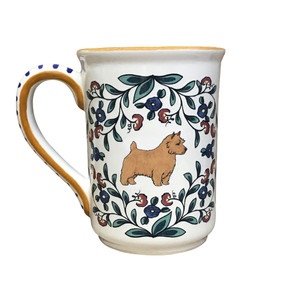 Handmade red Norwich Terrier mug from shepherds-grove.com