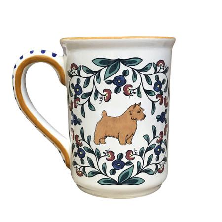 Handmade red Norwich Terrier mug from shepherds-grove.com