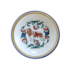 Blenheim Cavalier King Charles Spaniel  Ring Dish / Dipping Bowl from shepherds-grove.com