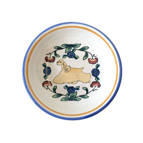 Buff Cocker Spaniel ring dish / dipping bowl from shepherds-grove.com
