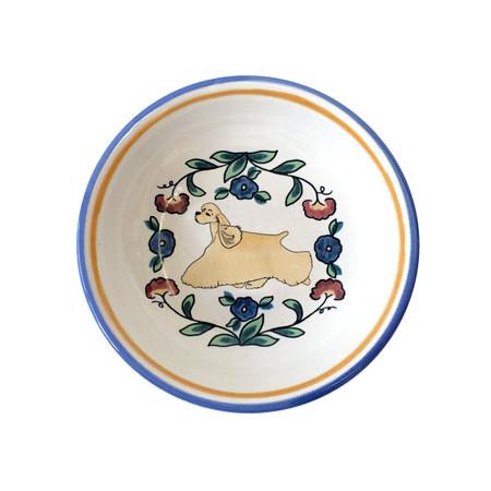 Buff Cocker Spaniel ring dish / dipping bowl from shepherds-grove.com
