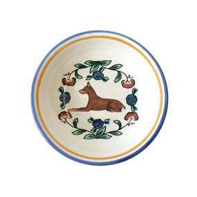 Red Doberman Pinscher ring dish / dipping bowl from shepherds-grove.com