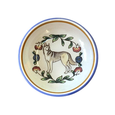 Siberian Husky ring dish (dipping bowl) - handmade by shepherds-grove.com