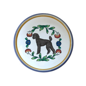 Black puppy-cut Poodle ring dish /dipping bowl from shepherds-grove.com