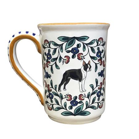 Handmade Boston Terrier mug by shepherds-grove.com