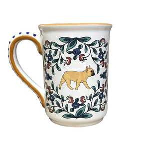 Fawn with black muzzle French Bulldog mug by shepherds-grove.com