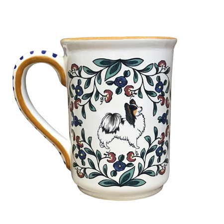 Tricolor Papillon Dog Mug - Handmade by Shepherds Grove