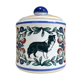 Handmade Border Collie sugar bowl by shepherds-grove.com