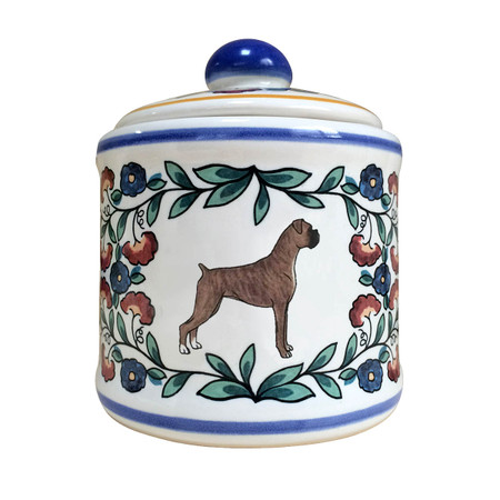 Brindle Boxer sugar bowl - handmade by shepherds-grove.com